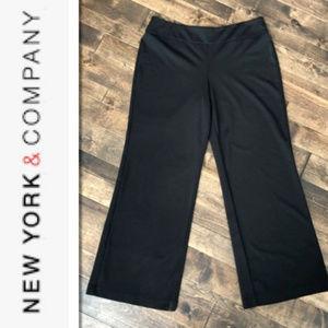 New York & Company Black Stretch Pants - L
